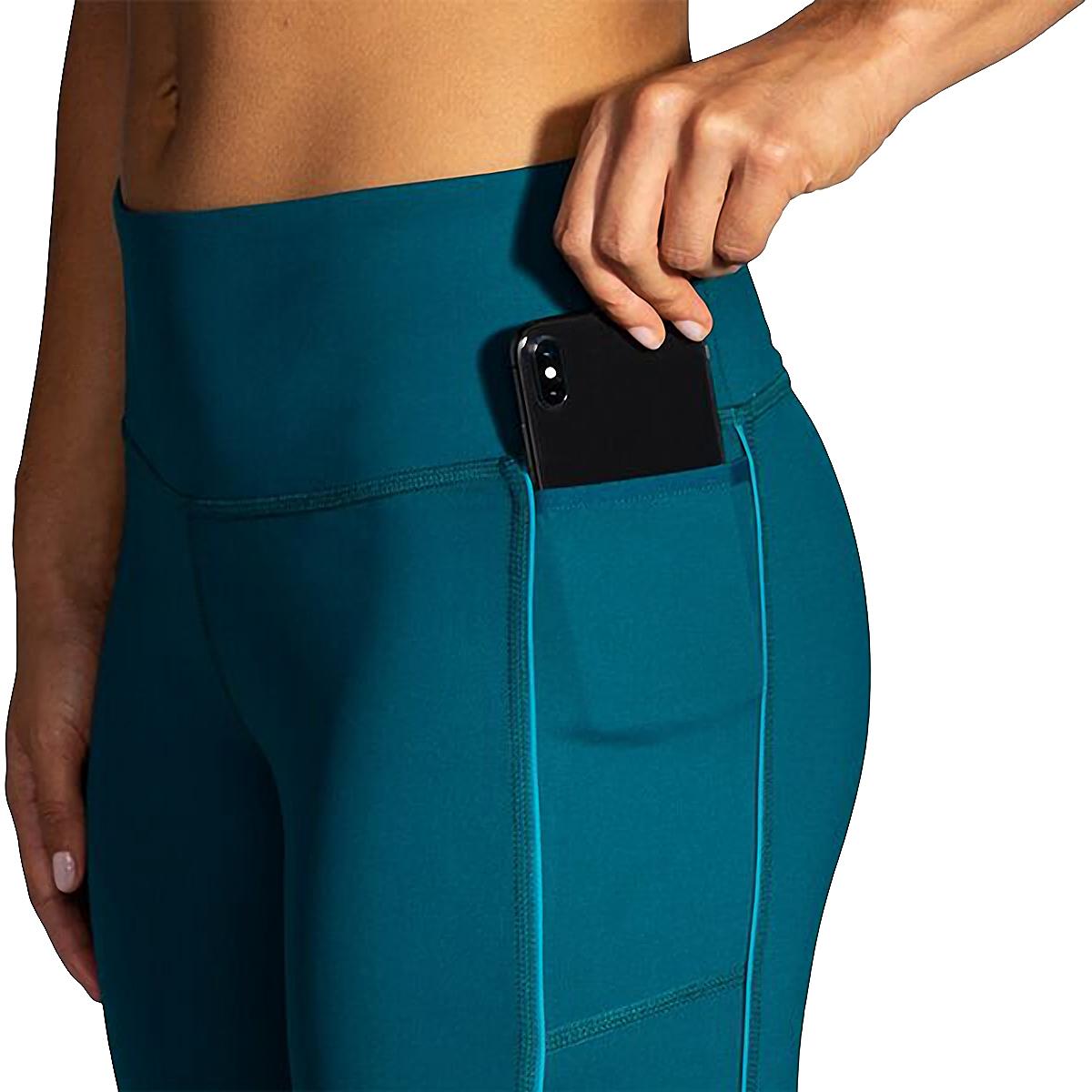 Women's Brooks Greenlight Capri  - Color: Deep Sea - Size: XS, Deep Sea, large, image 3