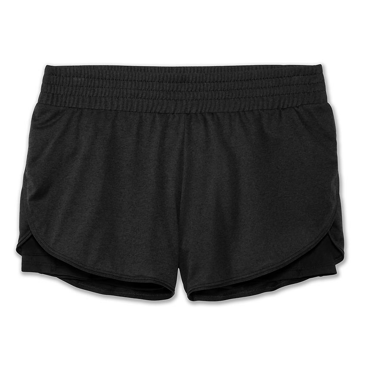"Women's Brooks Rep 3"" 2-In-1 Short - Color: Black - Size: XS, Black, large, image 2"