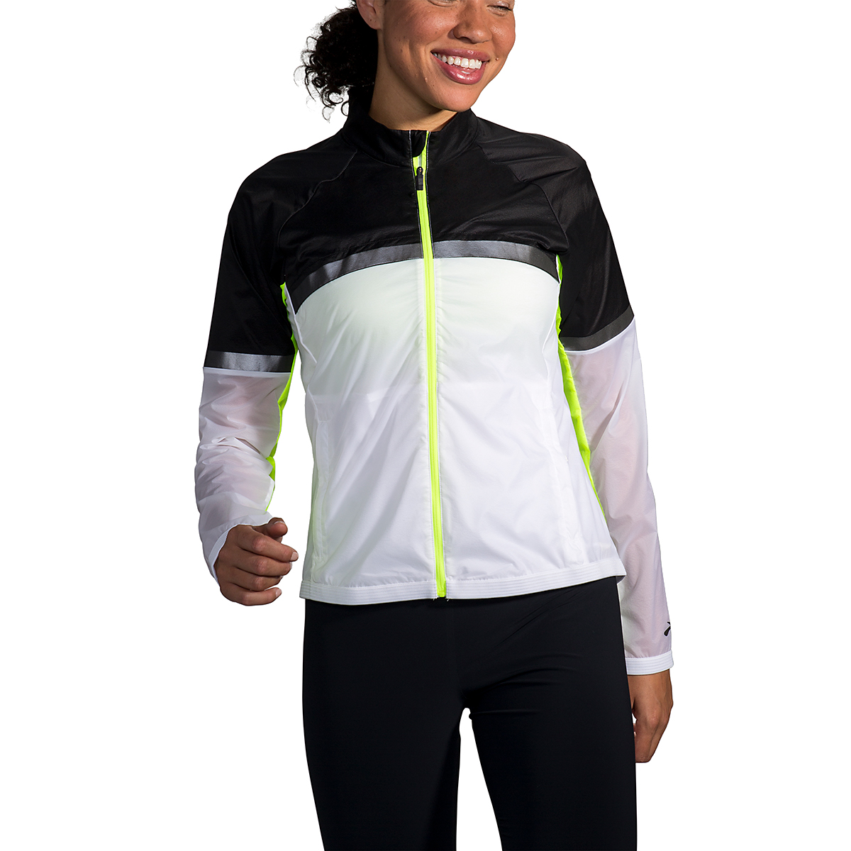 Women's Brooks Run Visible Carbonite Jacket  - Color: Luminosity - Size: XS, Luminosity, large, image 1