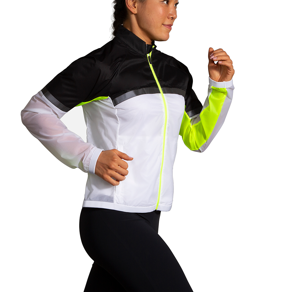 Women's Brooks Run Visible Carbonite Jacket  - Color: Luminosity - Size: XS, Luminosity, large, image 2