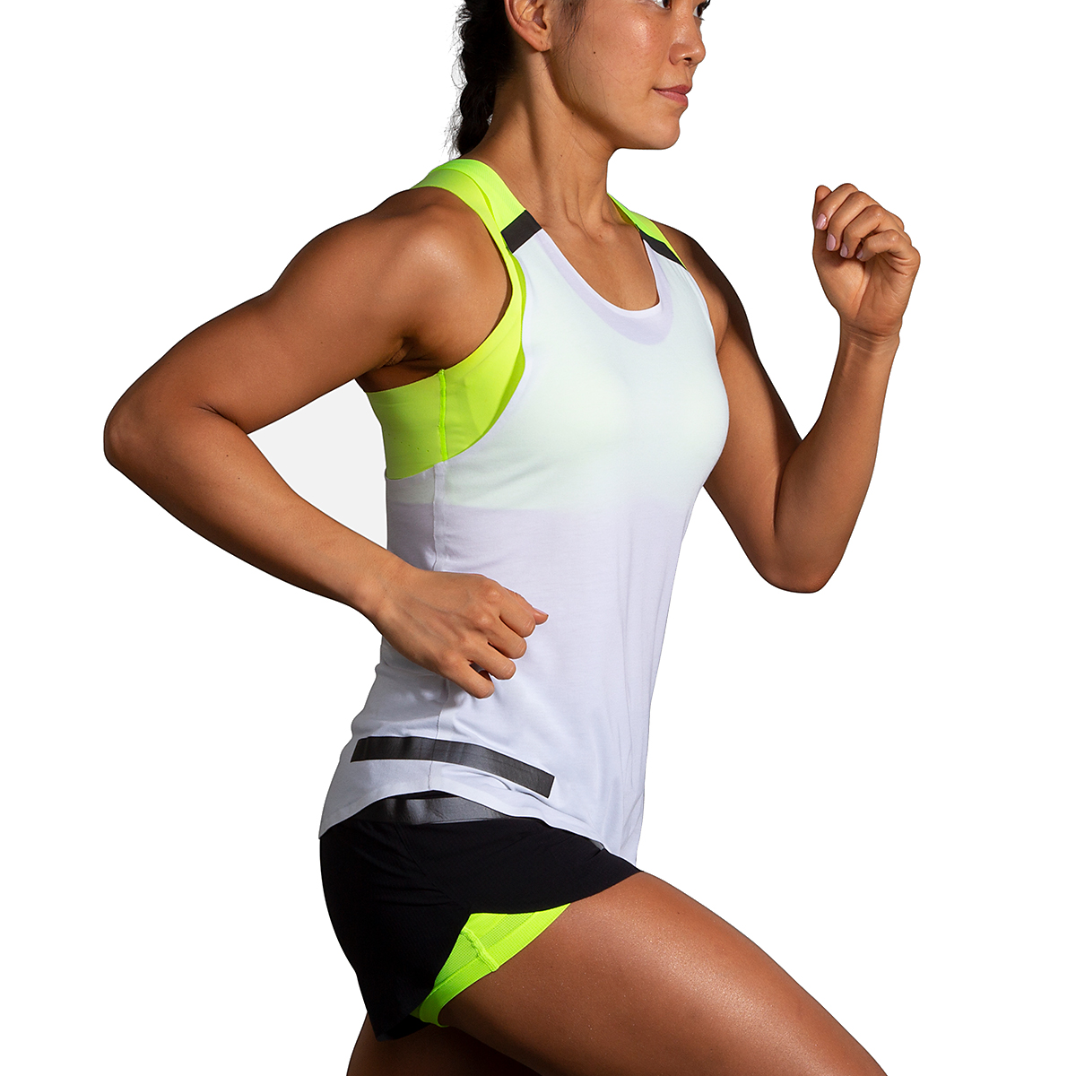 Women's Brooks Run Visible Carbonite Tank  - Color: Luminosity - Size: S, Luminosity, large, image 2