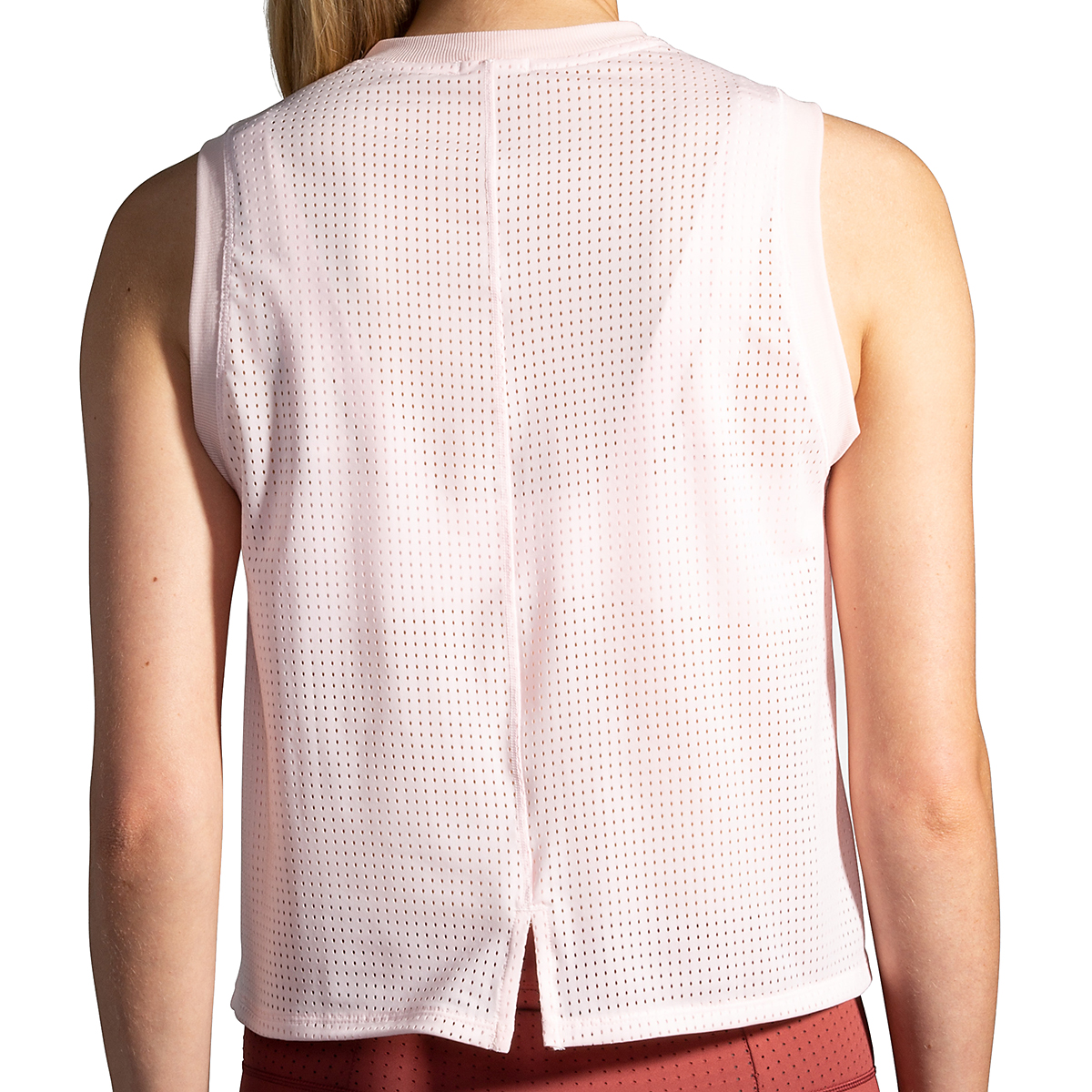 Women's Brooks Further Tank - Color: Rosewater/Stripe - Size: S, Rosewater/Stripe, large, image 2