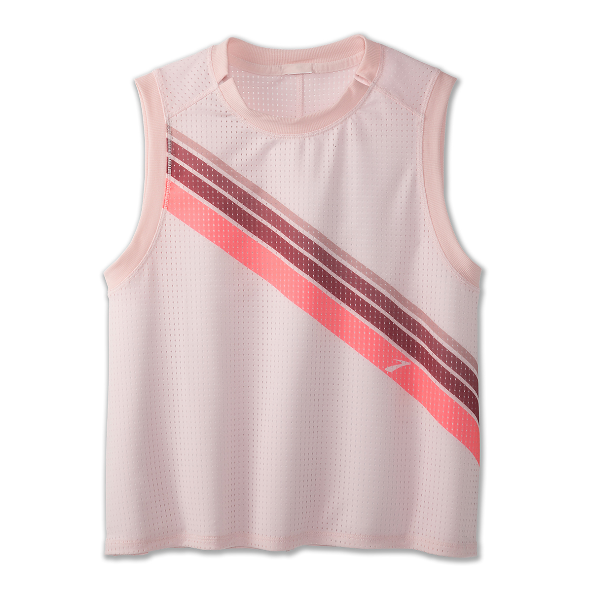 Women's Brooks Further Tank - Color: Rosewater/Stripe - Size: S, Rosewater/Stripe, large, image 5