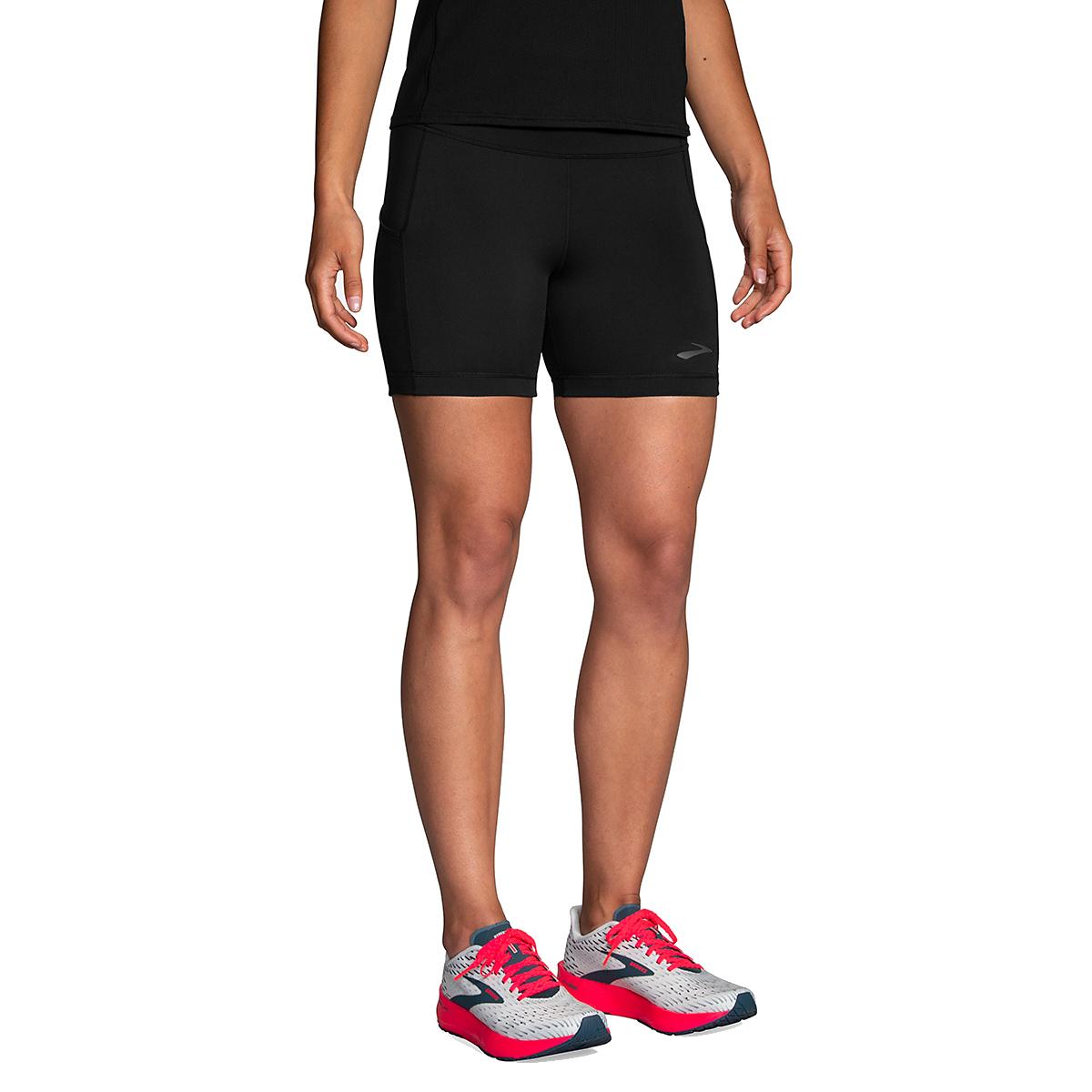 """Women's Brooks Method 5"""" Short Tight - Color: Black - Size: XS, Black, large, image 1"""