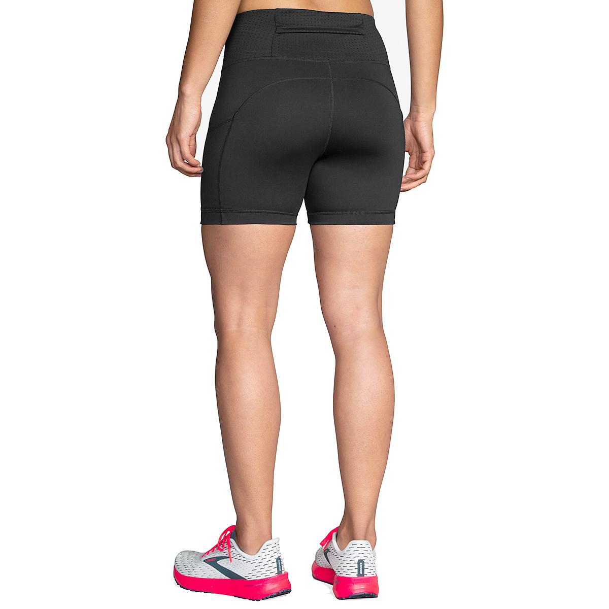 """Women's Brooks Method 5"""" Short Tight - Color: Black - Size: XS, Black, large, image 2"""