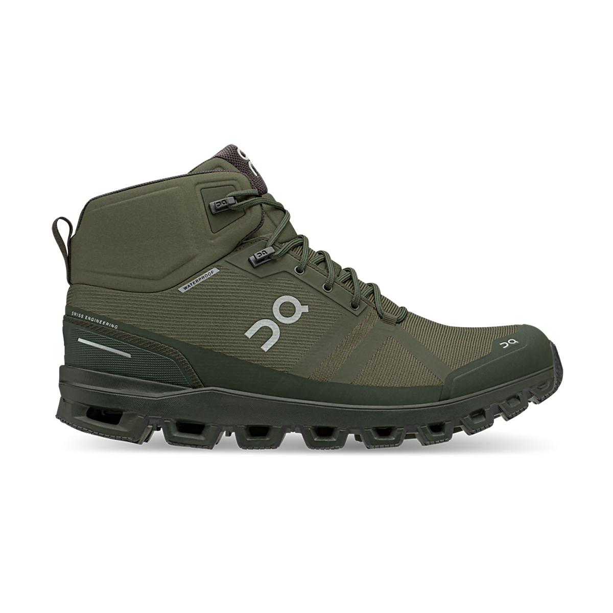Men's On Cloudrock Waterproof Trail Running Shoe - Color: Jungle/Fir - Size: 7 - Width: Regular, Jungle/Fir, large, image 1