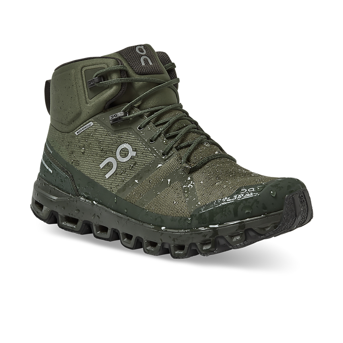 Men's On Cloudrock Waterproof Trail Running Shoe - Color: Jungle/Fir - Size: 7 - Width: Regular, Jungle/Fir, large, image 2