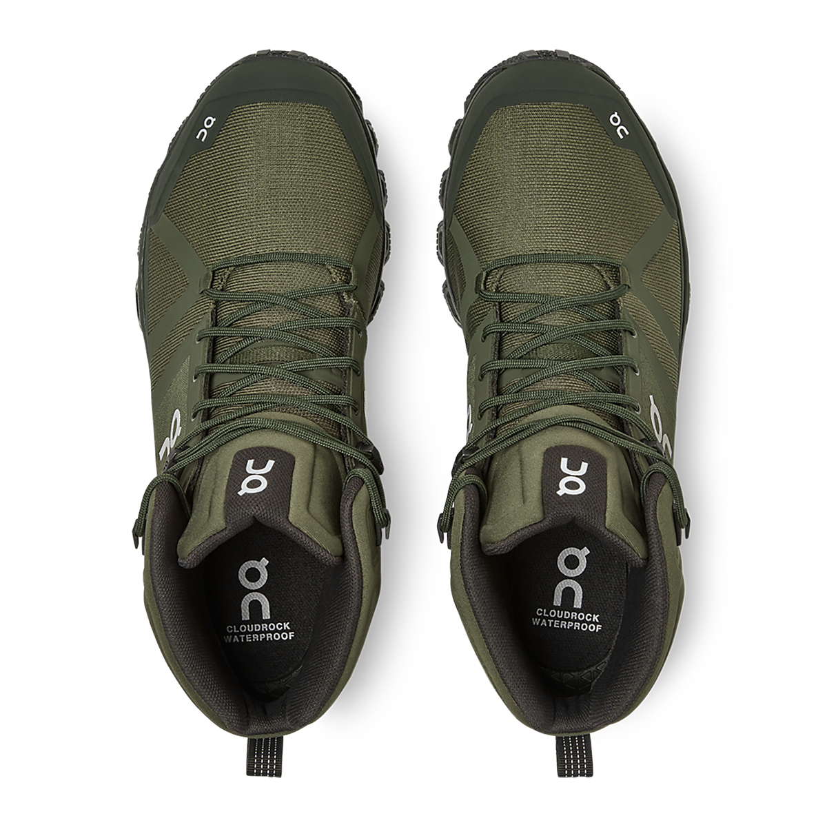 Men's On Cloudrock Waterproof Trail Running Shoe - Color: Jungle/Fir - Size: 7 - Width: Regular, Jungle/Fir, large, image 4