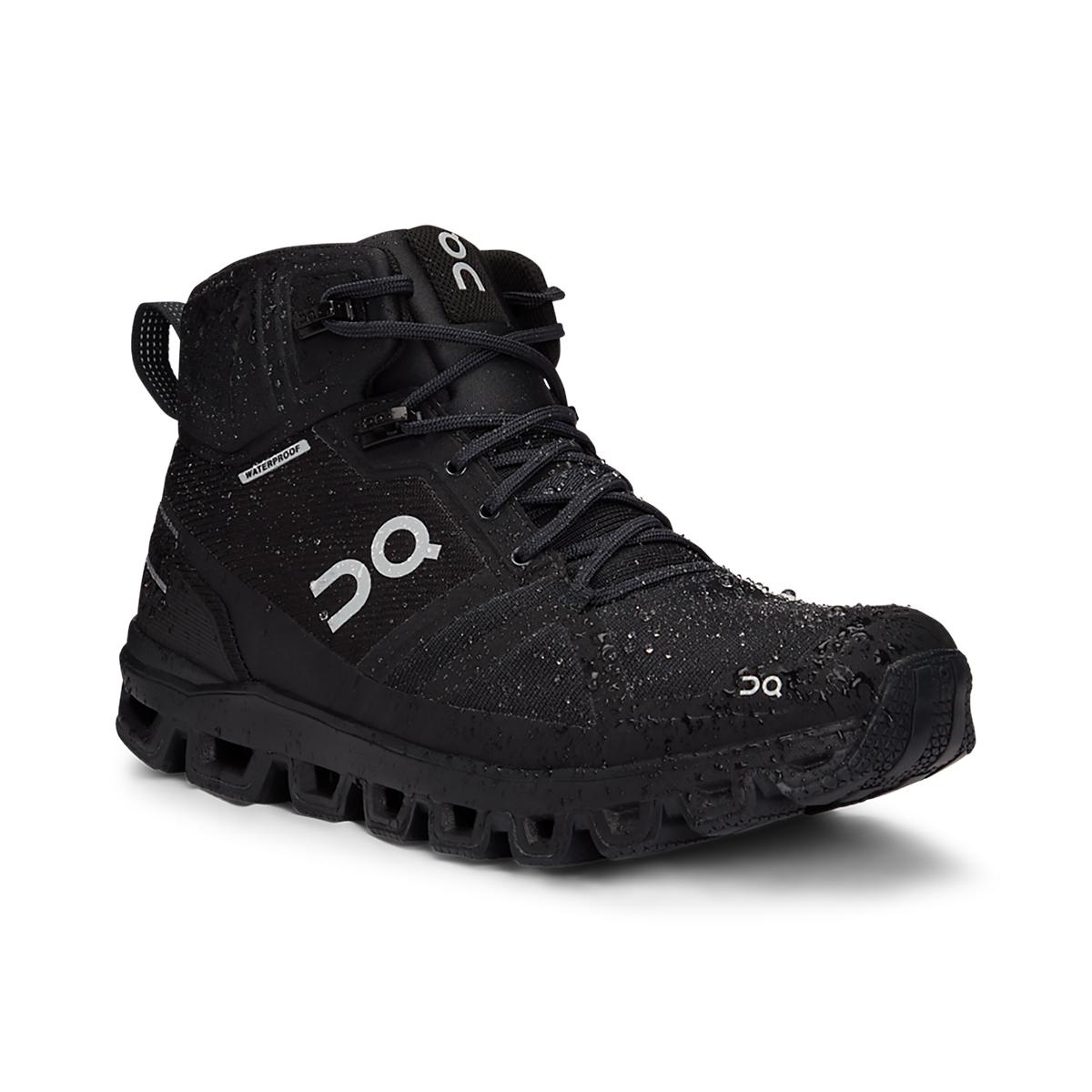 Women's On Cloudrock Waterproof Trail Running Shoe - Color: All Black - Size: 5 - Width: Wide, All Black, large, image 2
