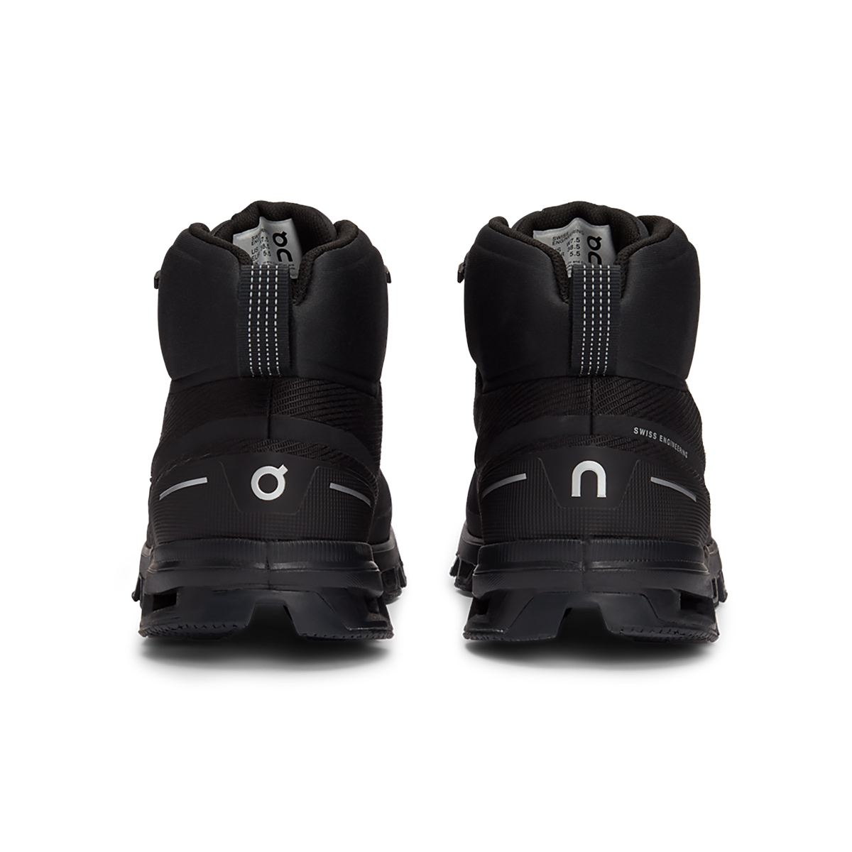 Women's On Cloudrock Waterproof Trail Running Shoe - Color: All Black - Size: 5 - Width: Wide, All Black, large, image 3