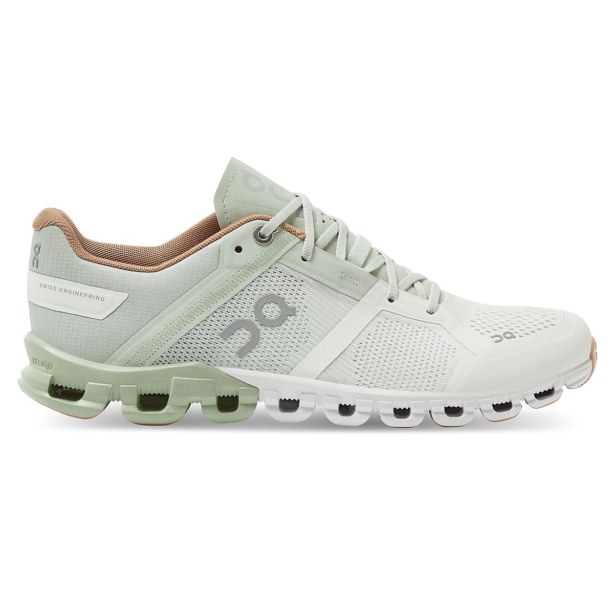 Women's On Cloudflow 2.0 Running Shoe - Color: Aloe/White - Size: 5 - Width: Regular, Aloe/White, large, image 1