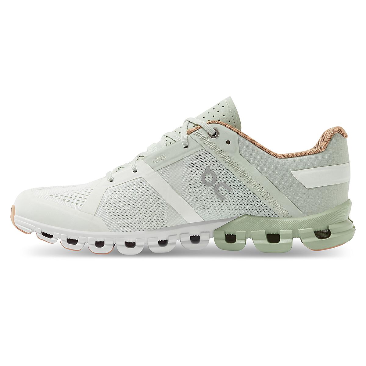 Women's On Cloudflow 2.0 Running Shoe - Color: Aloe/White - Size: 5 - Width: Regular, Aloe/White, large, image 2