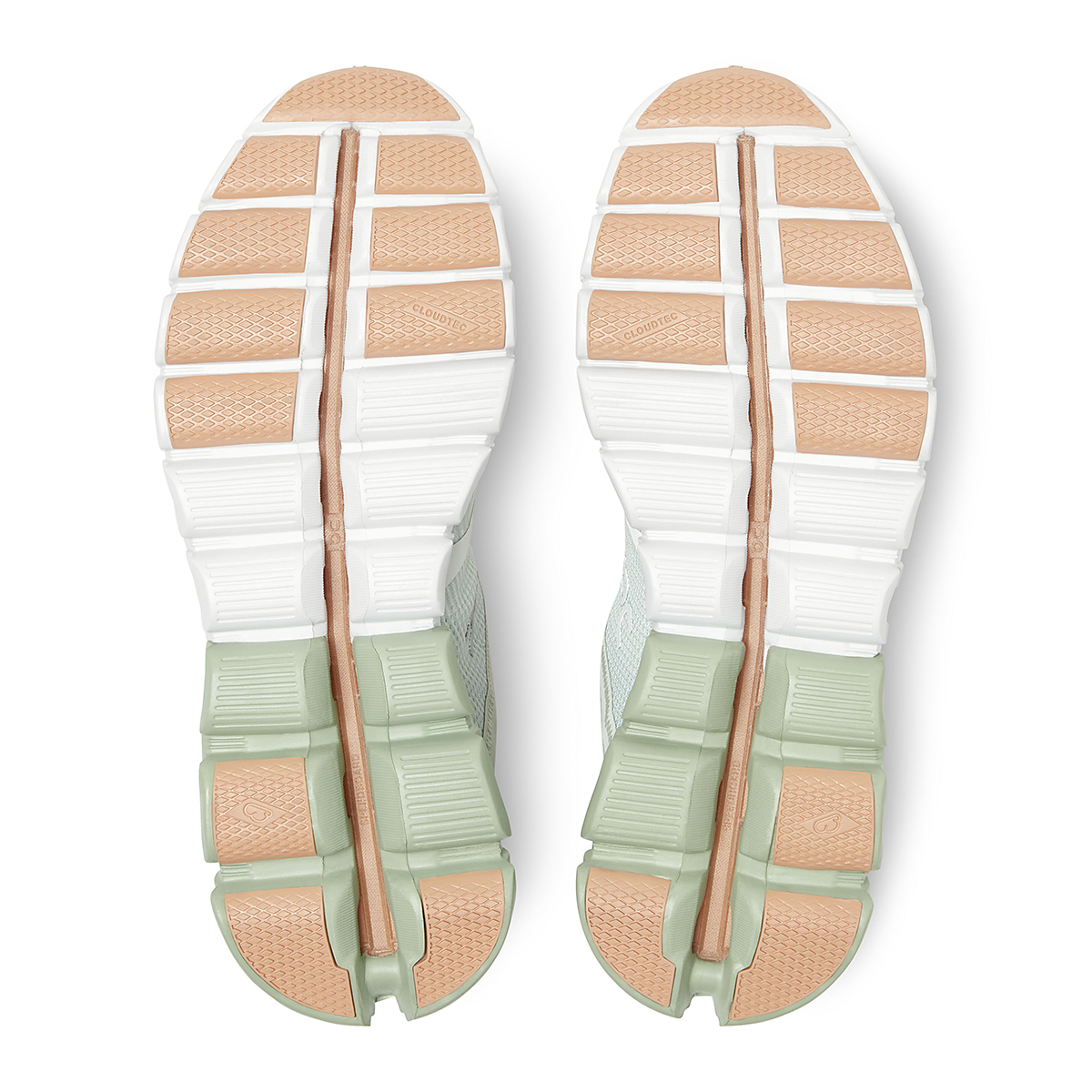 Women's On Cloudflow 2.0 Running Shoe - Color: Aloe/White - Size: 5 - Width: Regular, Aloe/White, large, image 4