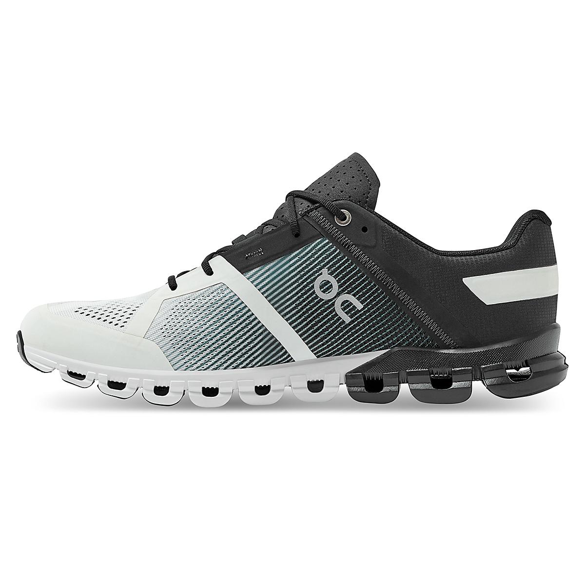 Men's On Cloudflow 2.0 Running Shoe - Color: Black/White - Size: 9.5 - Width: Regular, Black/White, large, image 2