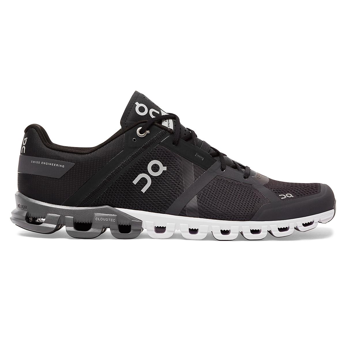 Men's On Cloudflow 2.0 Running Shoe - Color: Black/Asphalt - Size: 7 - Width: Regular, Black/Asphalt, large, image 1