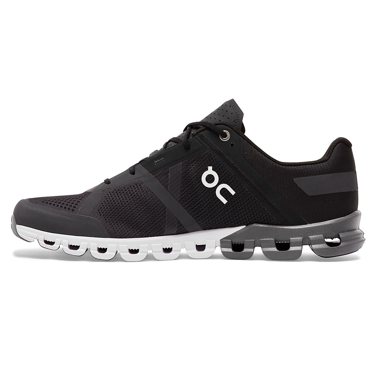 Men's On Cloudflow 2.0 Running Shoe - Color: Black/Asphalt - Size: 7 - Width: Regular, Black/Asphalt, large, image 2