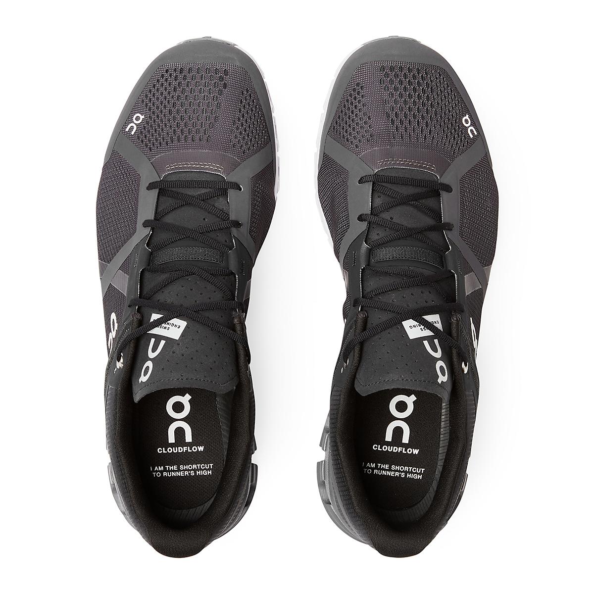 Men's On Cloudflow 2.0 Running Shoe - Color: Black/Asphalt - Size: 7 - Width: Regular, Black/Asphalt, large, image 3