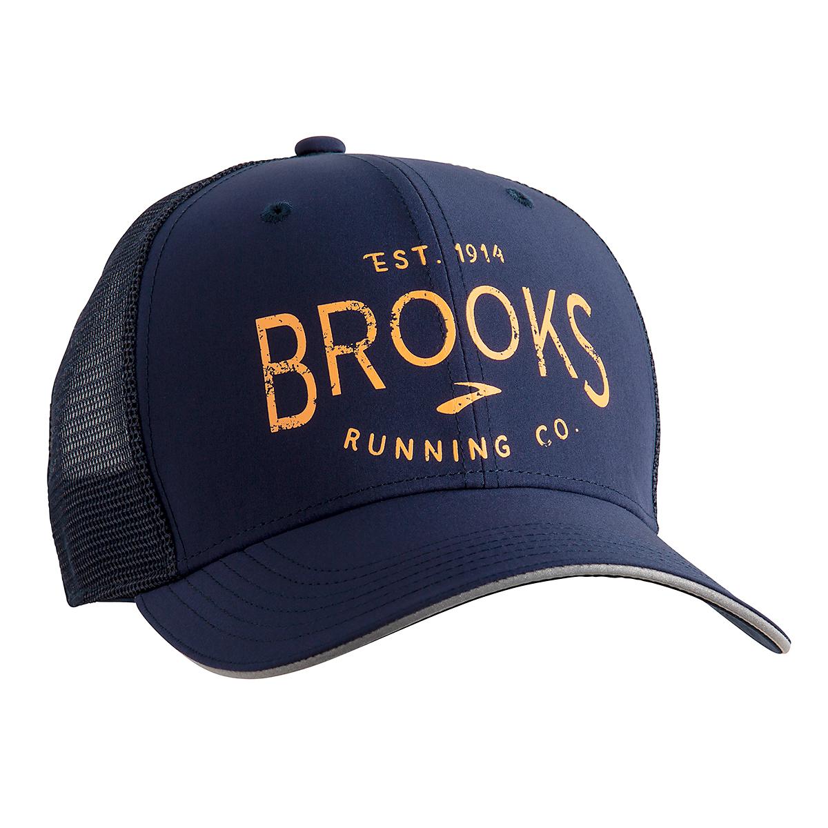 Brooks Discovery Trucker Hat - Color: Navy/Brooks Hero - Size: One Size, Navy/Brooks Hero, large, image 2