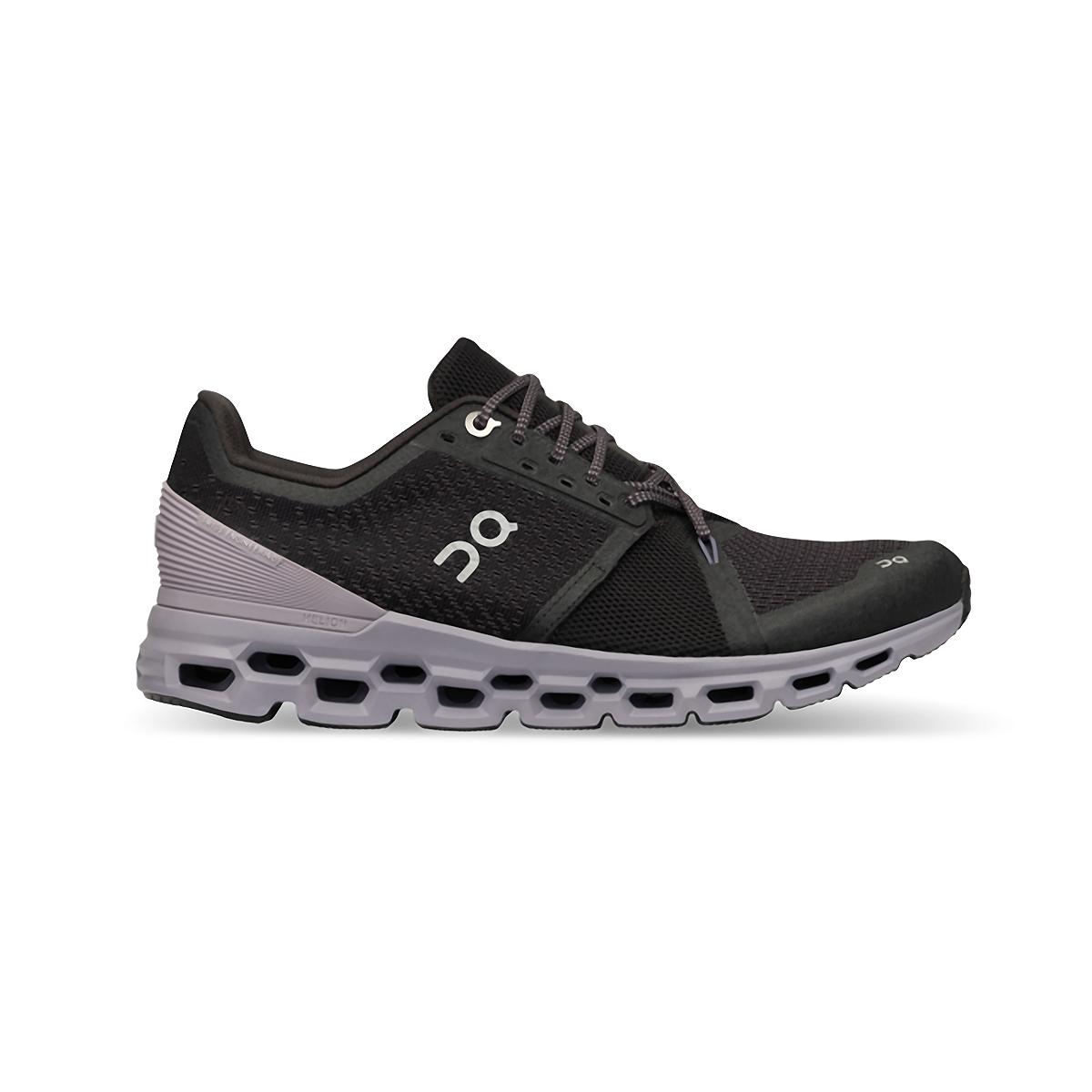 Women's On Cloudstratus Running Shoe - Color: Black/Lilac - Size: 5 - Width: Regular, Black/Lilac, large, image 1