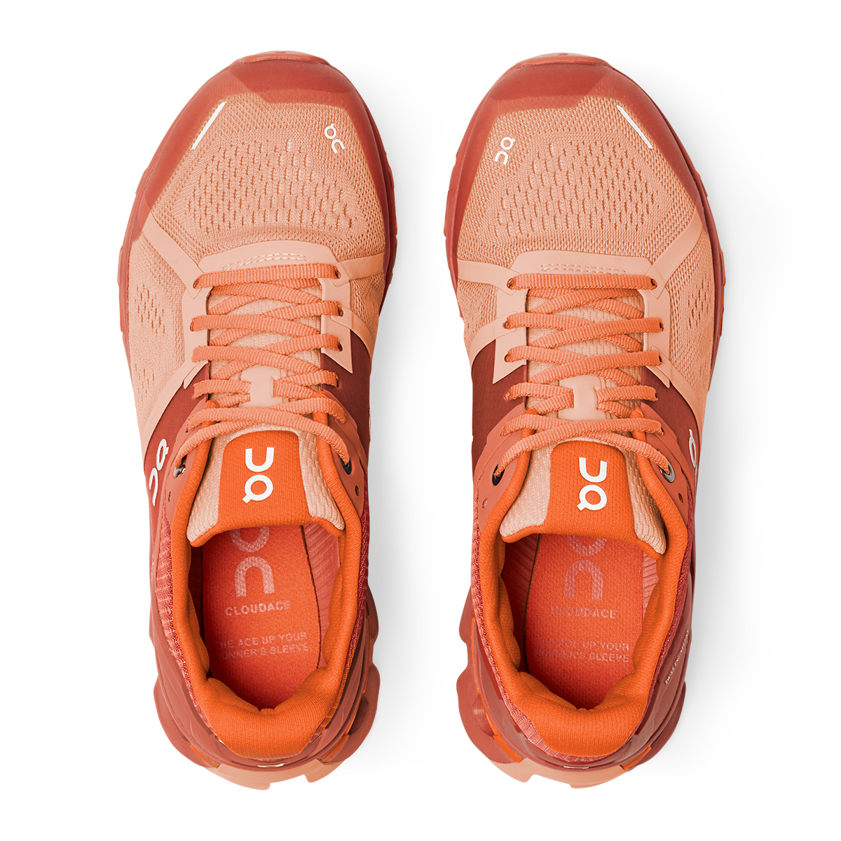 Women's On Cloudace Running Shoe - Color: Blush/Orange - Size: 5 - Width: Regular, Blush/Orange, large, image 3