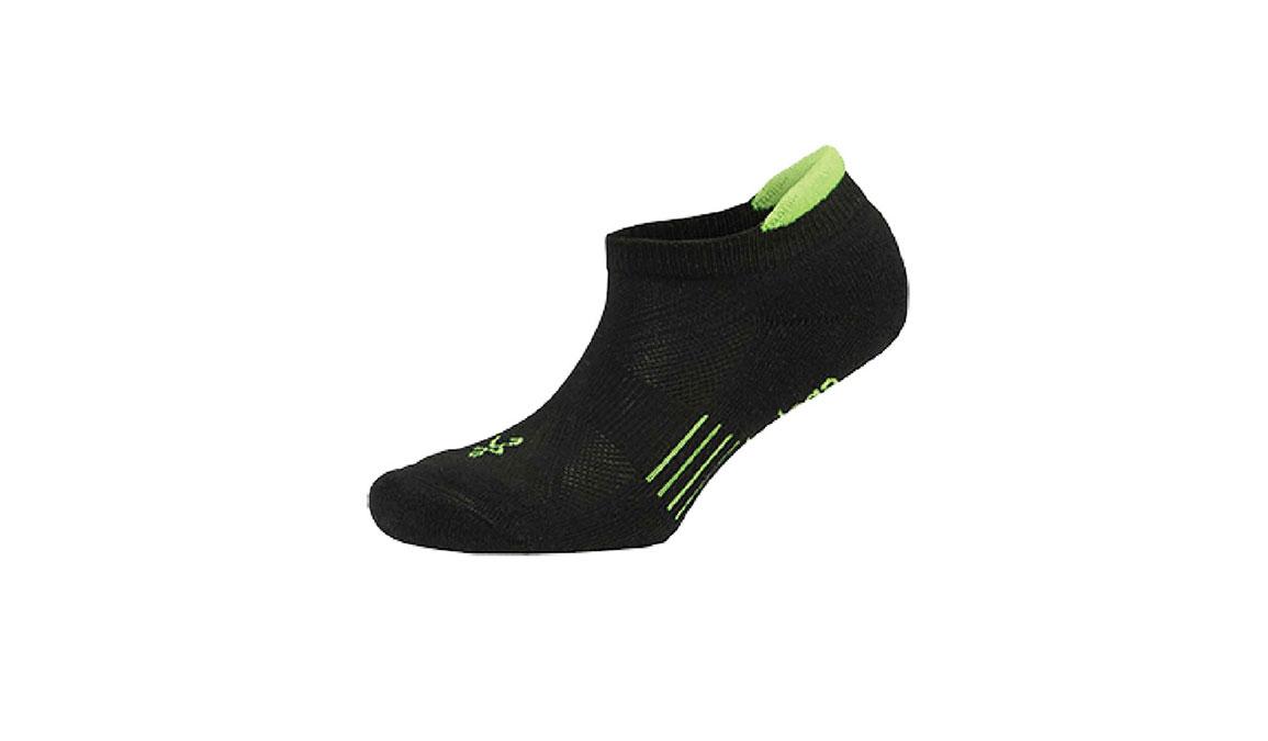 Balega Hidden Cool 2 No Show Socks - Color: Black/Neon Size: M, Black/Green, large, image 1