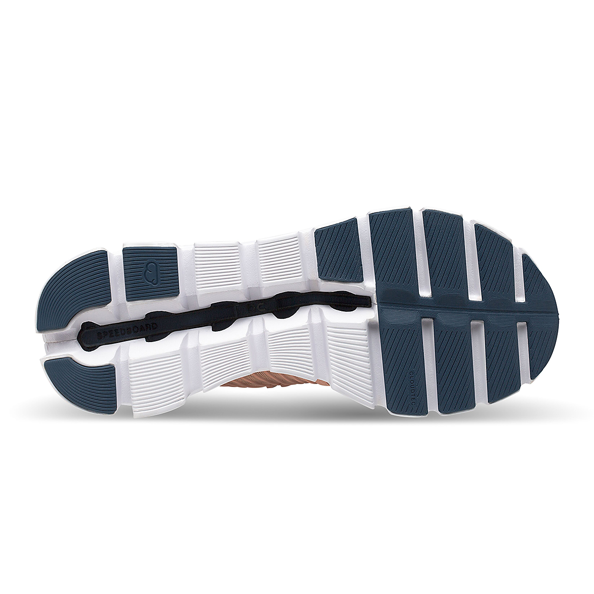 Women's On Cloudswift Running Shoe - Color: Blush/Denim - Size: 6 - Width: Regular, Blush/Denim, large, image 4