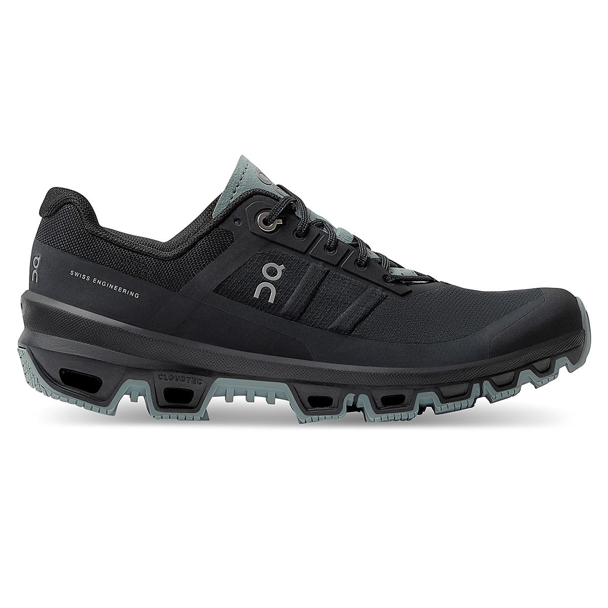 Women's On Cloudventure Running Shoe - Color: Black/Cobble - Size: 5 - Width: Regular, Black/Cobble, large, image 1