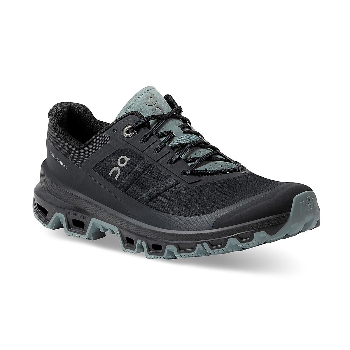 Women's On Cloudventure Running Shoe - Color: Black/Cobble - Size: 5 - Width: Regular, Black/Cobble, large, image 2