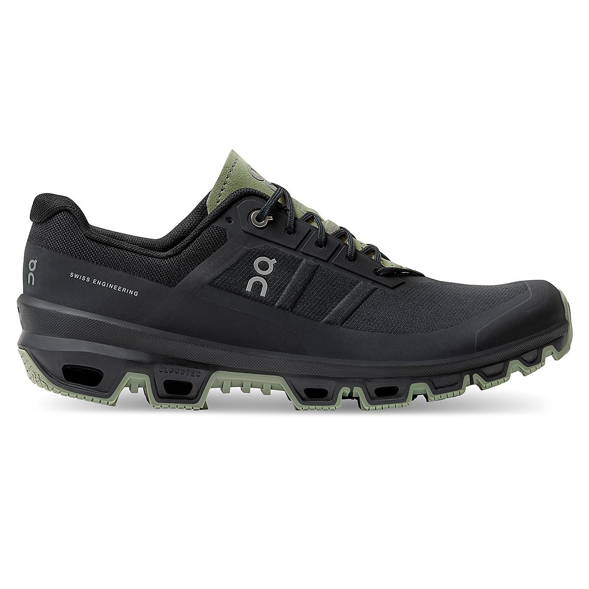 Men's On Cloudventure Running Shoe - Color: Black/Reseda - Size: 7 - Width: Regular, Black/Reseda, large, image 1