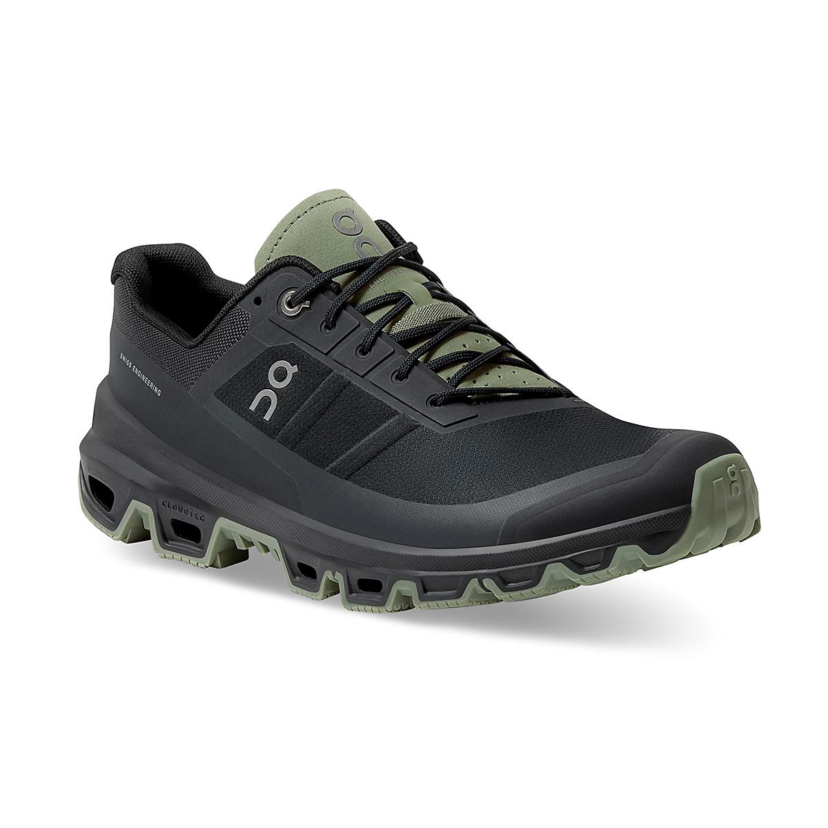 Men's On Cloudventure Running Shoe - Color: Black/Reseda - Size: 7 - Width: Regular, Black/Reseda, large, image 3