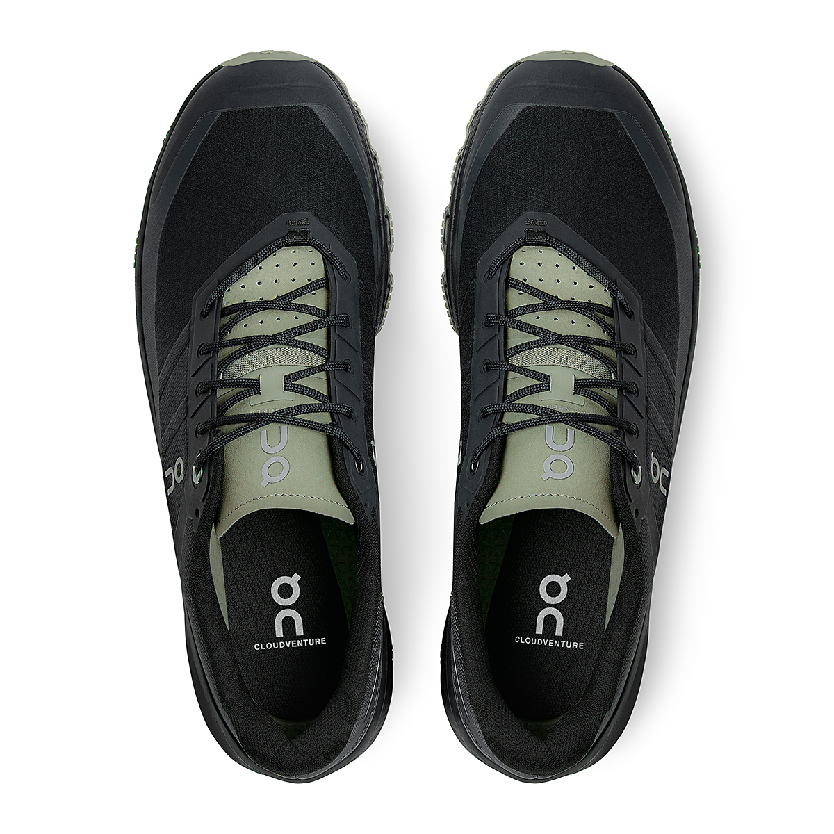 Men's On Cloudventure Running Shoe - Color: Black/Reseda - Size: 7 - Width: Regular, Black/Reseda, large, image 4