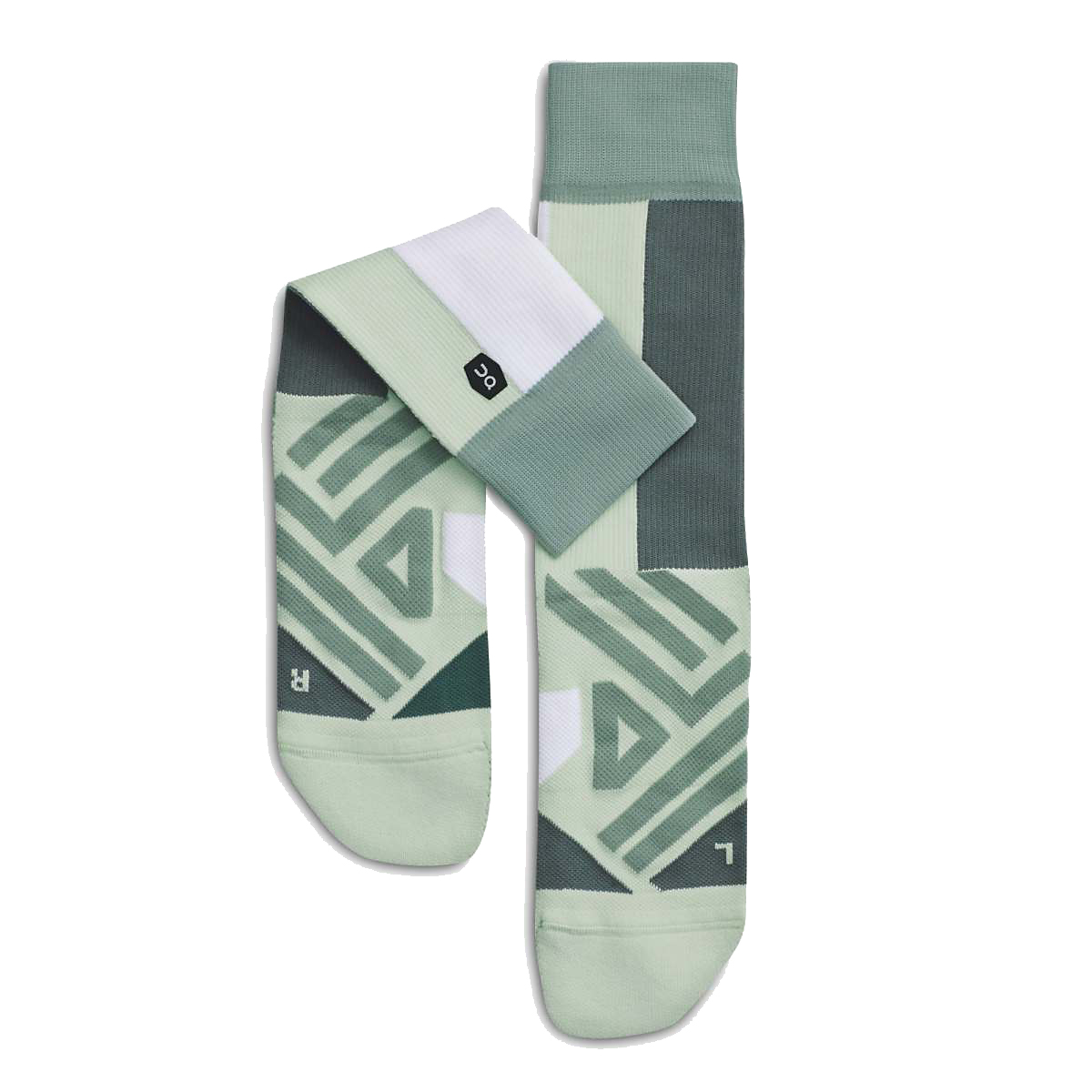 Women's On High Sock - Color: Mineral/White - Size: XS, Mineral/White, large, image 1