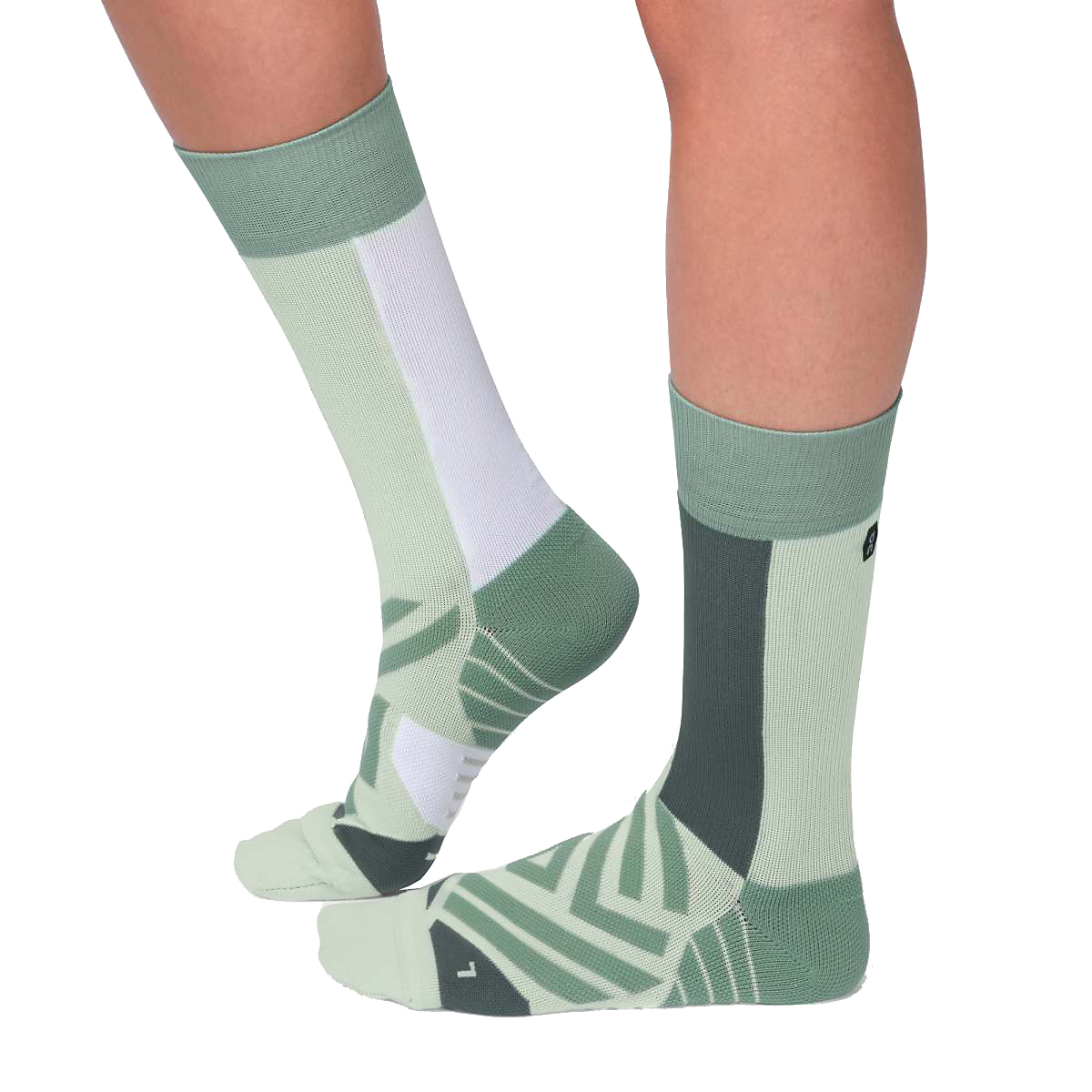 Women's On High Sock - Color: Mineral/White - Size: XS, Mineral/White, large, image 2