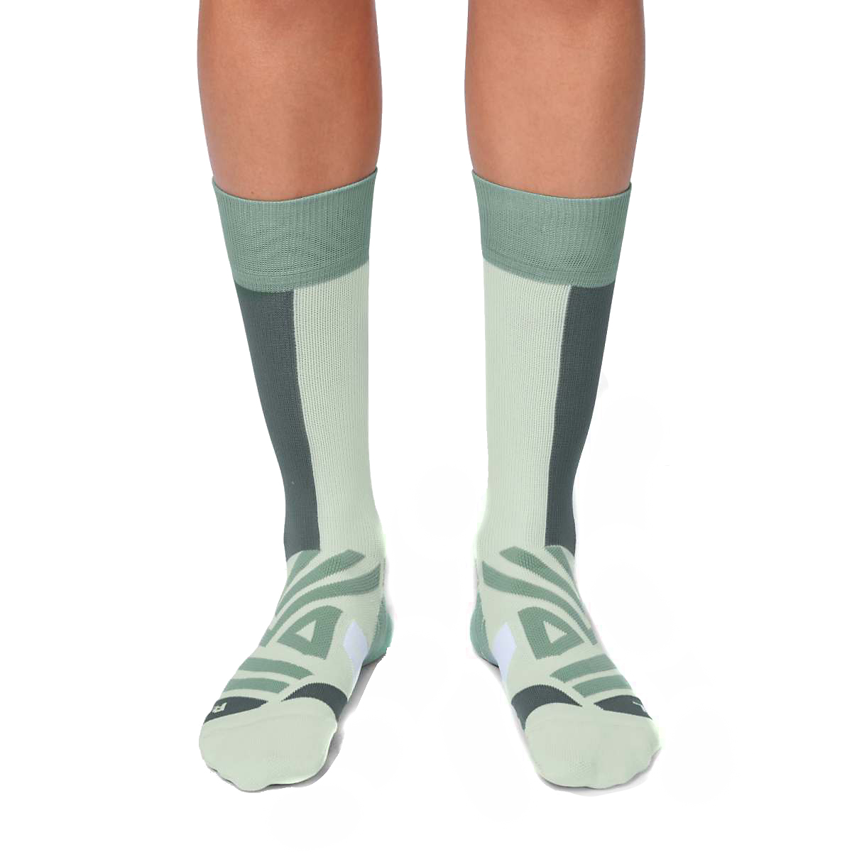 Women's On High Sock - Color: Mineral/White - Size: XS, Mineral/White, large, image 3