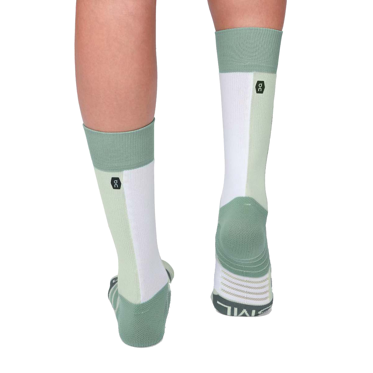 Women's On High Sock - Color: Mineral/White - Size: XS, Mineral/White, large, image 4