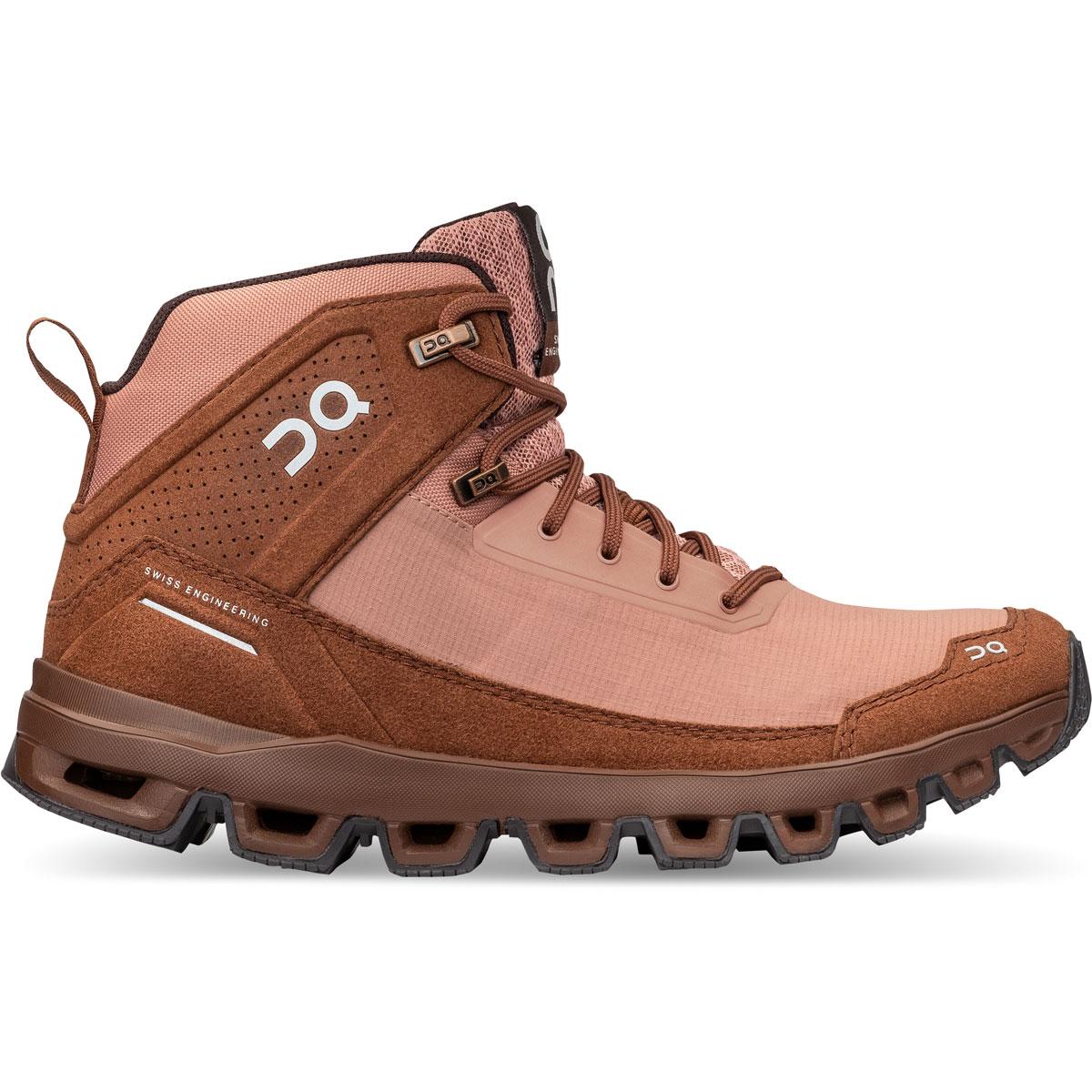 Women's On Cloudridge Hiking Shoe - Color: Mocha | Pebble - Size: 5 - Width: Regular, Mocha | Pebble, large, image 1