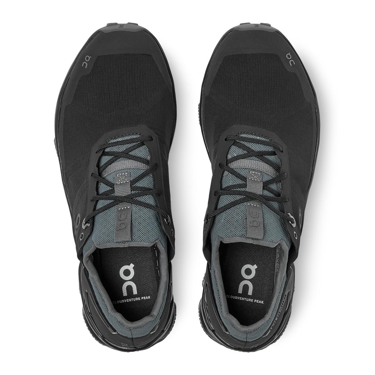 Women's On Cloudventure Peak Running Shoe - Color: Black/Rock - Size: 5 - Width: Regular, Black/Rock, large, image 3