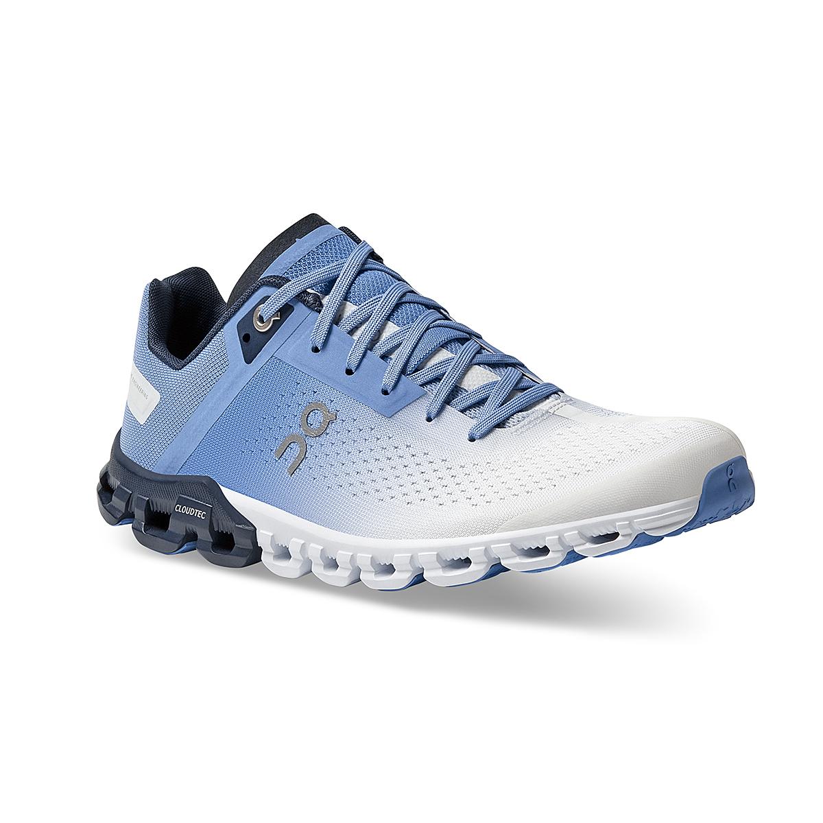 Women's On Cloudflow 3.0 Running Shoe - Color: Marina/White - Size: 5 - Width: Regular, Marina/White, large, image 2