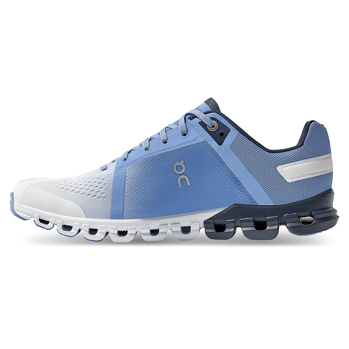Women's On Cloudflow 3.0 Running Shoe - Color: Marina/White - Size: 5 - Width: Regular, Marina/White, large, image 3