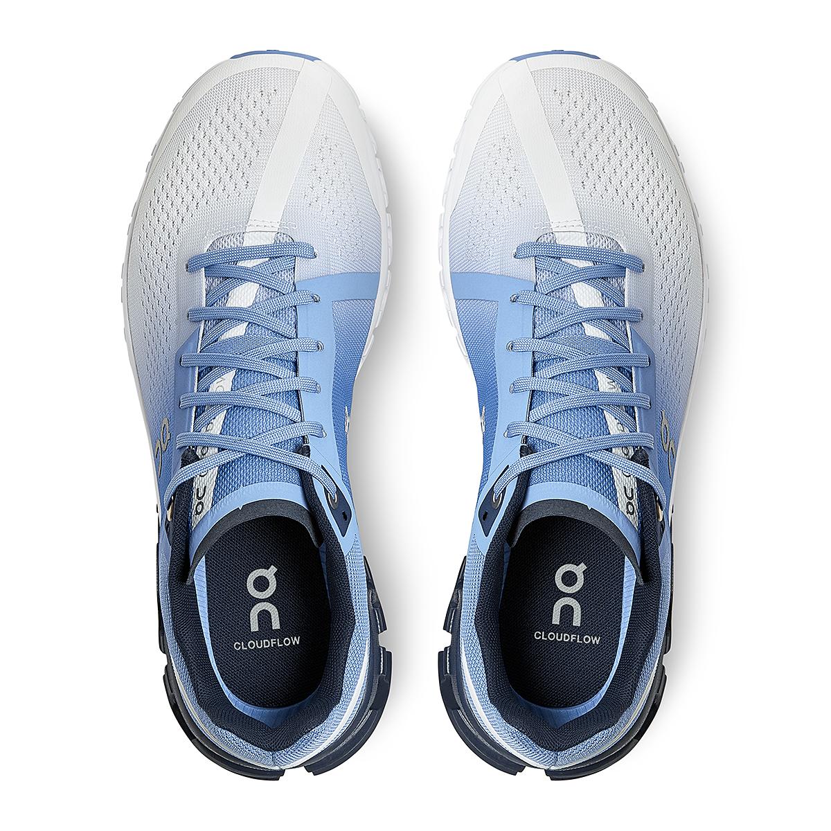 Women's On Cloudflow 3.0 Running Shoe - Color: Marina/White - Size: 5 - Width: Regular, Marina/White, large, image 4