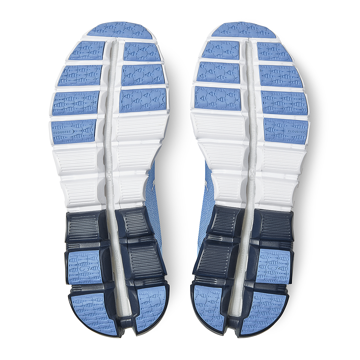 Women's On Cloudflow 3.0 Running Shoe - Color: Marina/White - Size: 5 - Width: Regular, Marina/White, large, image 6