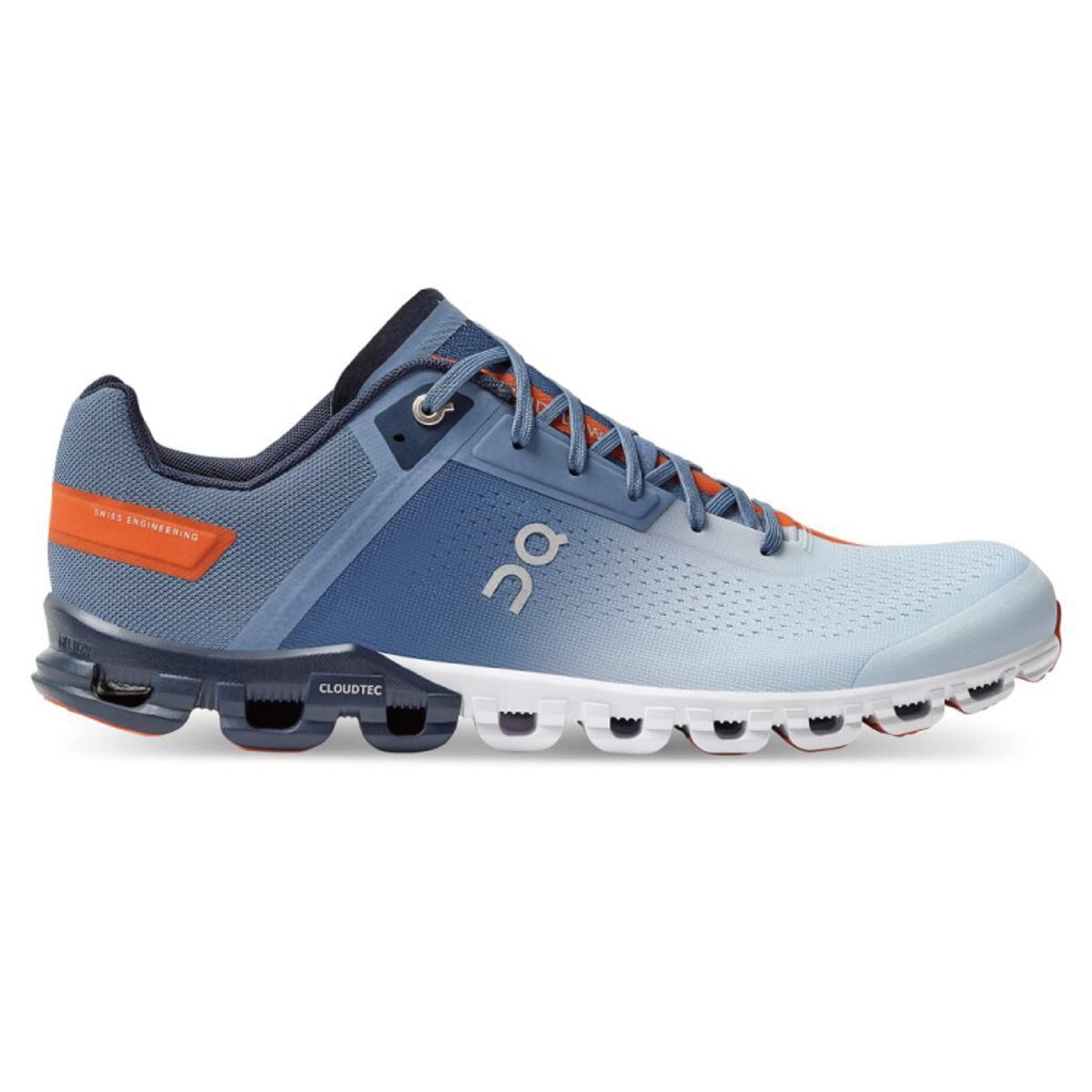 Men's On Cloudflow 3.0 Running Shoe - Color: Lake/Flare - Size: 7 - Width: Regular, Lake/Flare, large, image 1