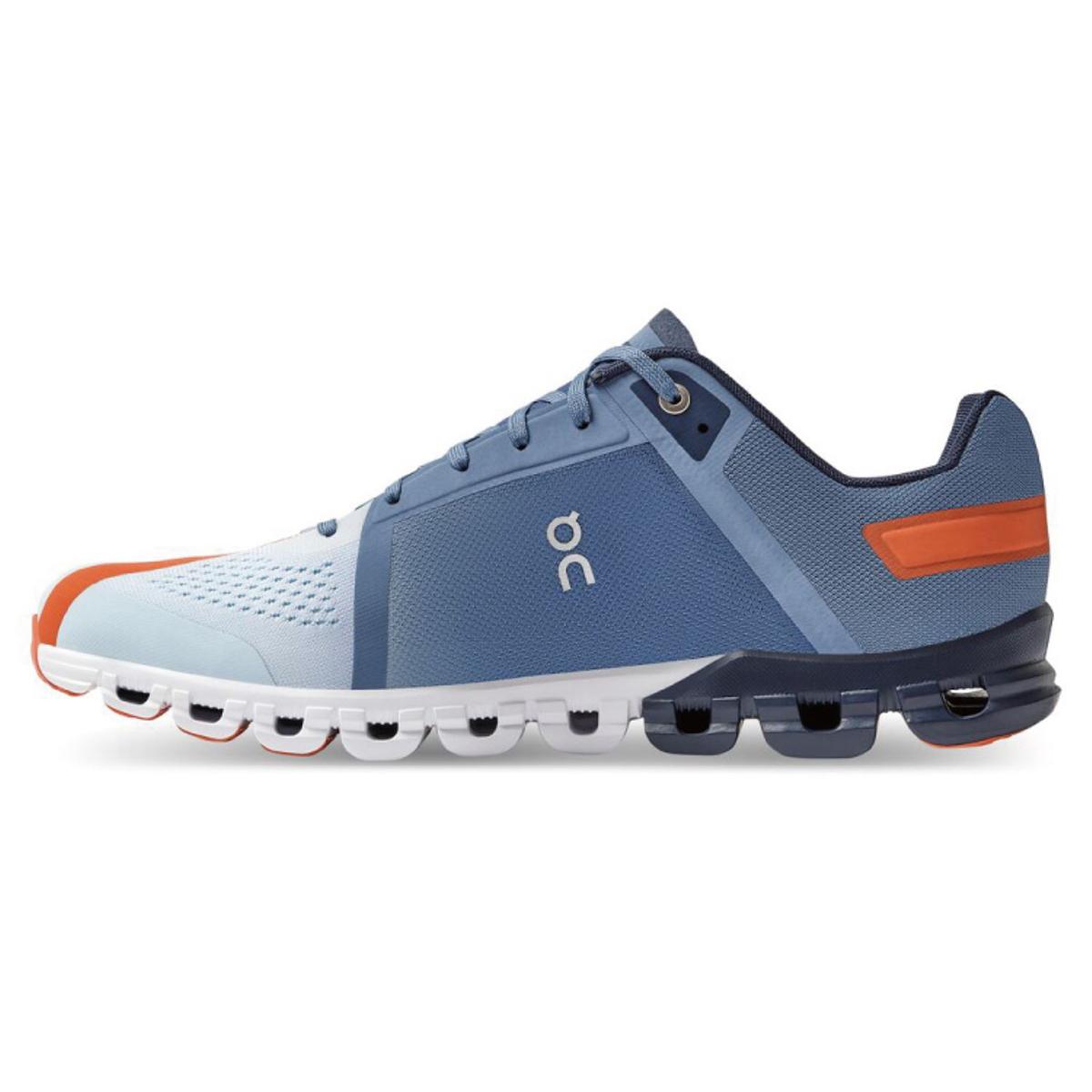 Men's On Cloudflow 3.0 Running Shoe - Color: Lake/Flare - Size: 7 - Width: Regular, Lake/Flare, large, image 2