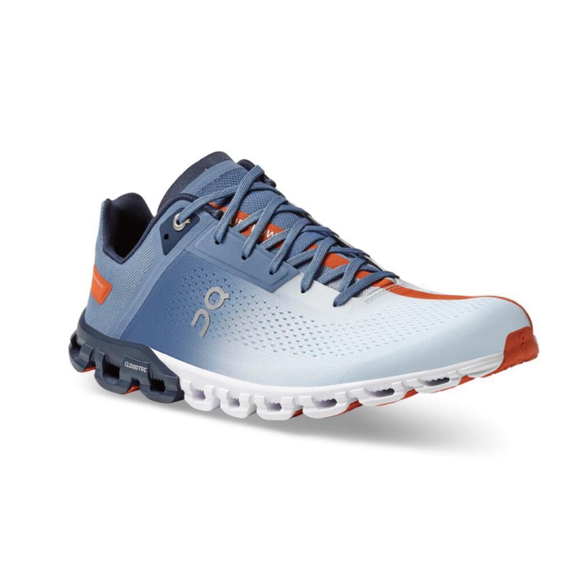Men's On Cloudflow 3.0 Running Shoe - Color: Lake/Flare - Size: 7 - Width: Regular, Lake/Flare, large, image 5
