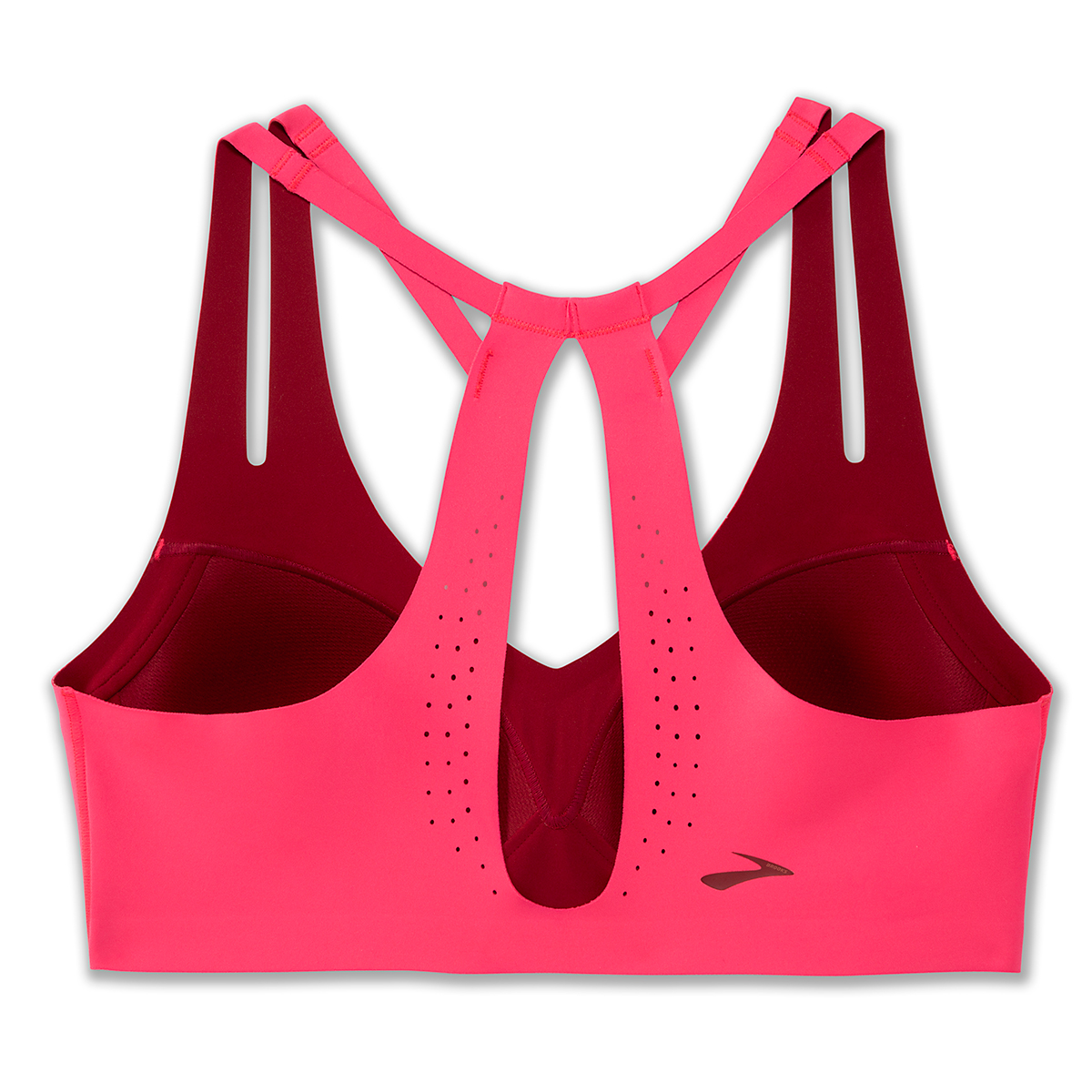 Women's Brooks Dare Strappy Bra - Color: Hot Pink - Size: 30A/B, Hot Pink, large, image 4