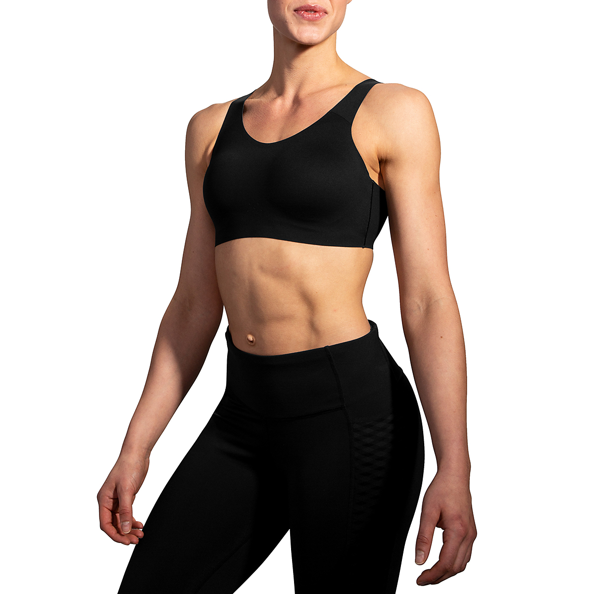 Women's Brooks Dare Scoopback Run Bra - Color: Black - Size: 34C/D, Black, large, image 2