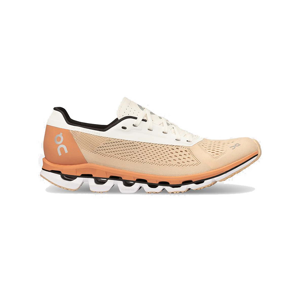 Women's On Cloudboom Running Shoe - Color: Savannah/White - Size: 5.5 - Width: Regular, Savannah/White, large, image 1