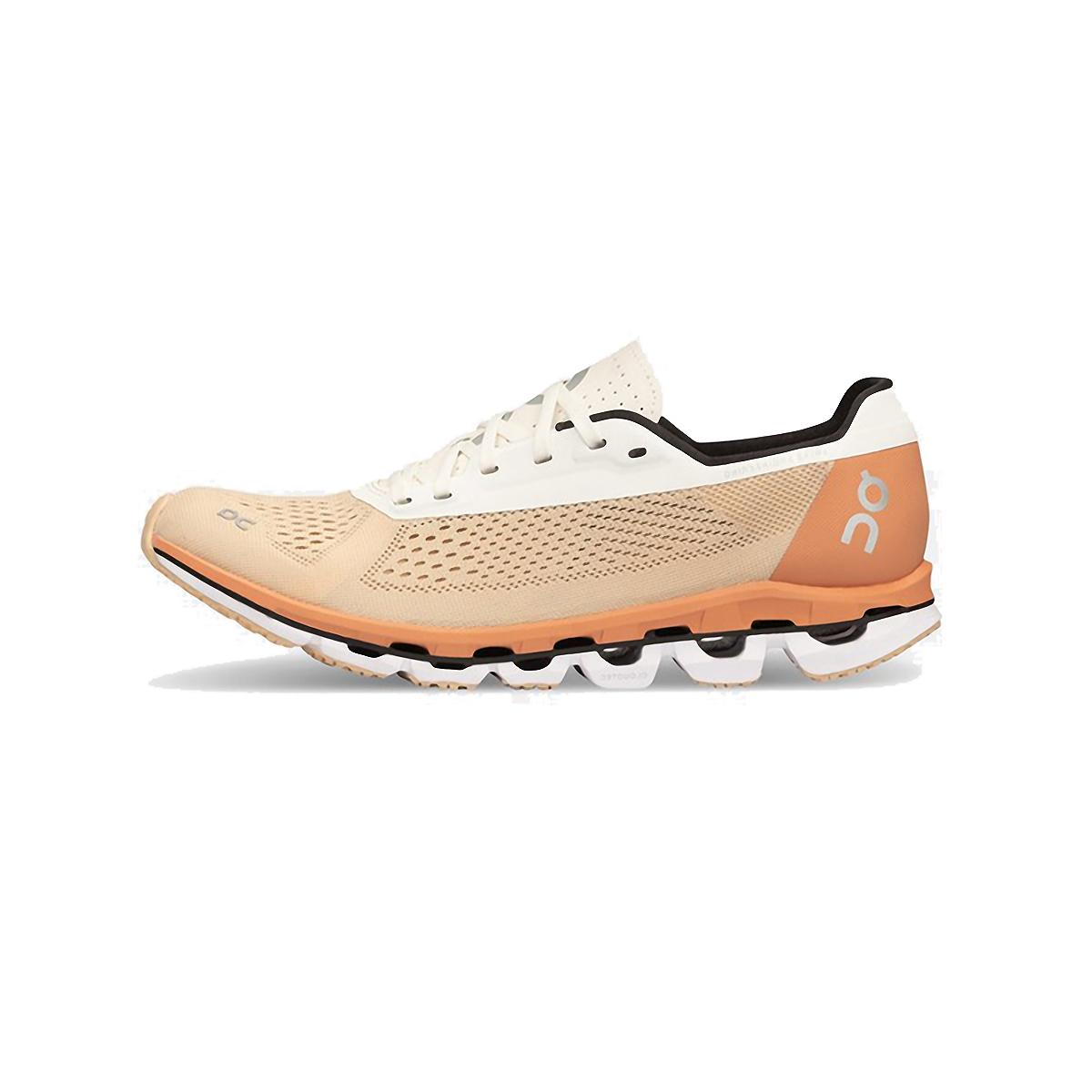 Women's On Cloudboom Running Shoe - Color: Savannah/White - Size: 5.5 - Width: Regular, Savannah/White, large, image 2