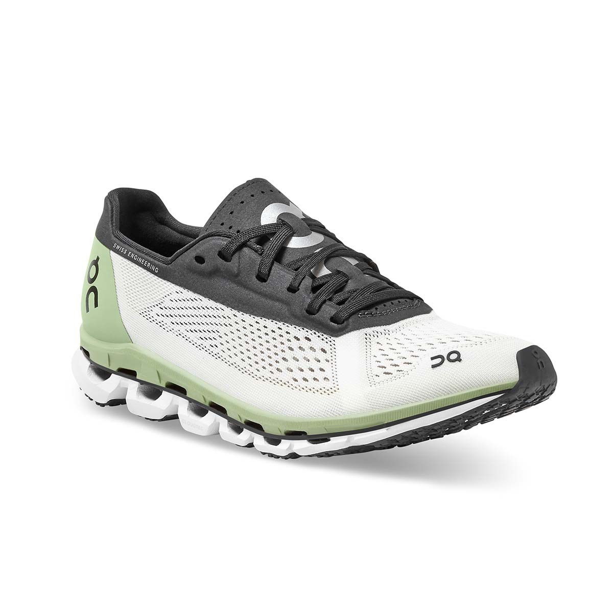 Women's On Cloudboom Running Shoe - Color: White/Black - Size: 5 - Width: Regular, White/Black, large, image 2