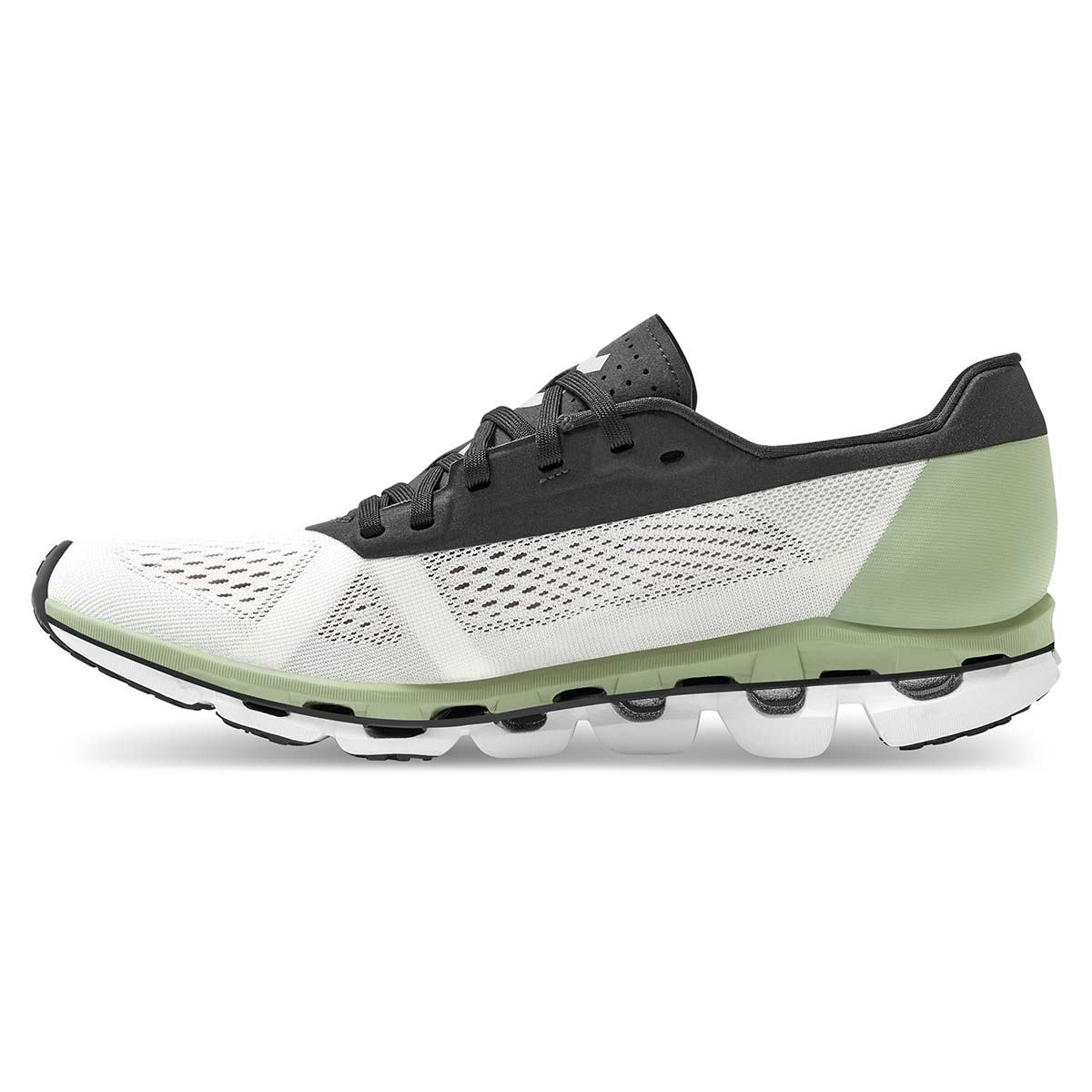 Women's On Cloudboom Running Shoe - Color: White/Black - Size: 5 - Width: Regular, White/Black, large, image 3